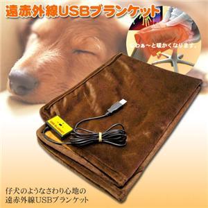 遠赤外線USBブランケット チョコレートブラウン