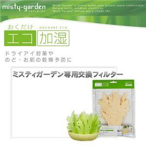 エコ加湿器「ミスティガーデン」 専用フィルター【2個組】(グリーン&ナチュラルカラー)
