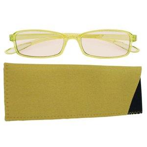 スイートアイ メラニンレンズ 度付きPC眼鏡 SE01 Olive オリーブ +2.00