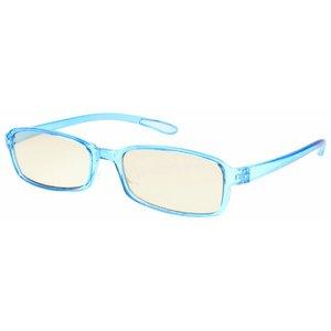 スイートアイ メラニンレンズ 度付きPC眼鏡 SE01 Aqua アクア ブルー 青 +2.00