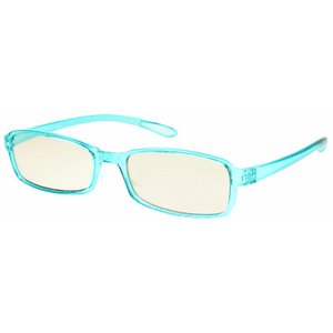 スイートアイ メラニンレンズ 度付きPC眼鏡 SE01 Sky スカイ ブルー 青 +1.50