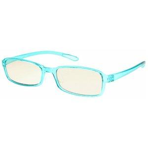 スイートアイ メラニンレンズ 度付きPC眼鏡 SE01 Sky スカイ ブルー 青 +2.00