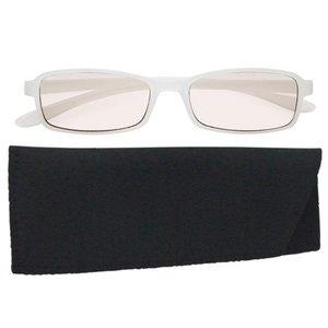 スイートアイ メラニンレンズ 度付きPC眼鏡 SE01 Lily リリー ホワイト 白 +1.00