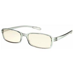 スイートアイ メラニンレンズ 度付きPC眼鏡 SE01 Smoke スモーク グレー 灰色 +1.50