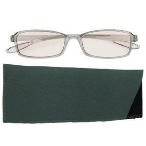 スイートアイ メラニンレンズ 度付きPC眼鏡 SE01 Smoke スモーク グレー 灰色 +2.00