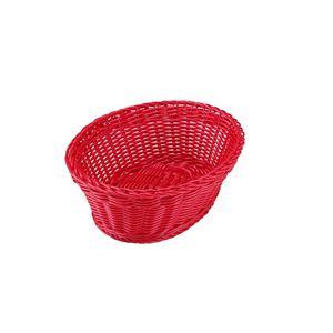 Quaritierlatin(カルティエラタン) 洗えるバスケット オーバル/楕円形 M レッド(赤)