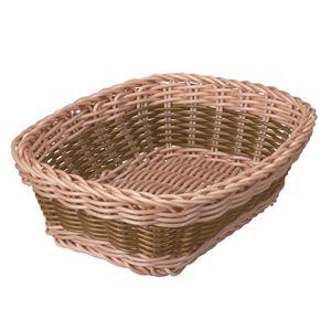 QuaritierLatin(カルティエラタン) 洗えるバスケット バイカラー レクタングル ブラウン 【4個セット】