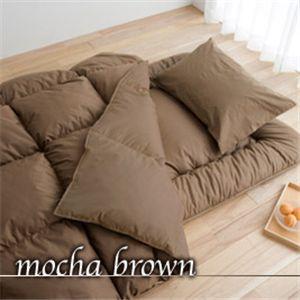 イングランド産ダウンファイバー100%使用 増量掛布団 寝具3点セット モカベージュ