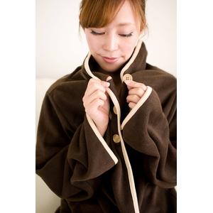 着るブランケット NuKME(ヌックミィ) 袖付き毛布 モカ