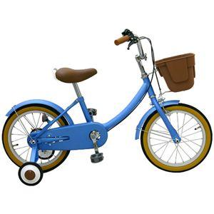 子供用16インチ自転車 /補助輪付き ブルー
