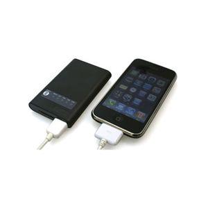 2000mA外付けUSB携帯バッテリー&ケーブルセット ホワイト