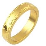 ステンレスリング アラベスク模様 ゴールドカラー 7号