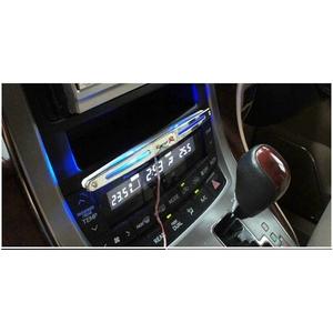 12車対応カーデコレーション用 センターコンソール ブルーLEDライト 両面テープ付で貼り付け簡単 【4個セット】