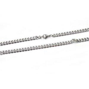 【10本組】ステンレス製ネックレス キヘイチェーン幅5mm/全長50cm