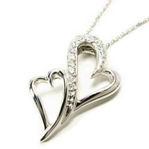 jestic heart*ジェスティックハート ベニジウム ダブルシェイプハートネックレス