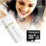 Transcend(トランセンド) 4GB microSDHC カードリーダ P5 セット ホワイト