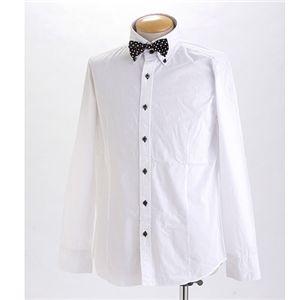 タイ付きボタンダウンドレスシャツ 0088(ボウタイ) Lサイズ