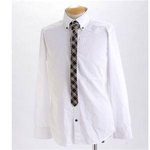 タイ付きボタンダウンドレスシャツ 0077(ネクタイ) Mサイズ