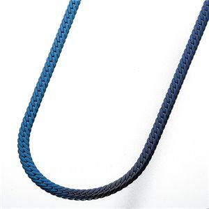 純チタン ヘリンボーンネックレス ブルー