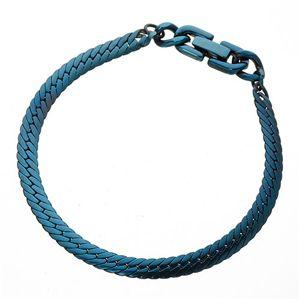 純チタン ヘリンボーンブレス ブルー 185mm