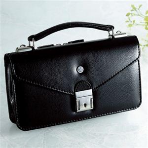 【日本製】家紋付 礼装多機能バッグ (小) 鍵付◆丸に上がり藤 backs-24