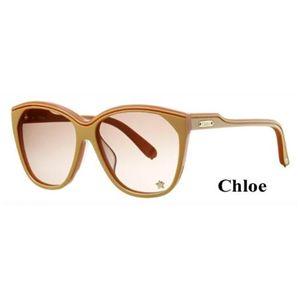 Chloe(クロエ) サングラス CL2181A-C04:クリア系ブラウングラデーション×サーモンピンク