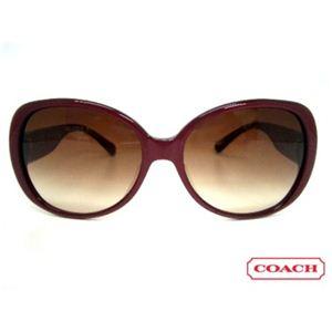 COACH(コーチ) サングラス S777A-BURGUNDY ブラウングラデーション×メタリック系ワインレッド