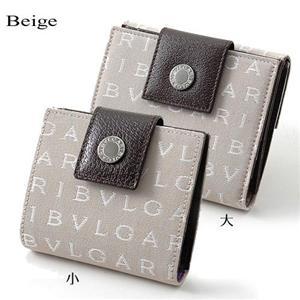 BVLGARI Wホック式財布 22242/BEIGE(大)