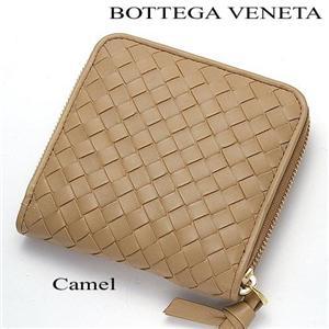 BOTTEGA VENETA ラウンドファスナー財布 152923 V0013 CAMEL/2640