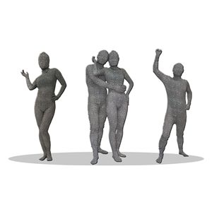全身タイツ/コスプレ衣装 【豹柄 グレー Lサイズ】 メンズ180cm迄 連体服 顔カバー付き 『透明人間』