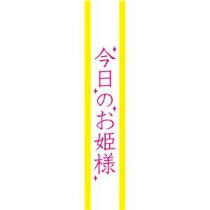 宴会タスキ/コスプレ衣装 【今日のお姫様】 ポリエステル100% 〔イベント パーティー〕