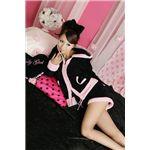 フリースボアパーカー&Sパンツ 黒/ピンク