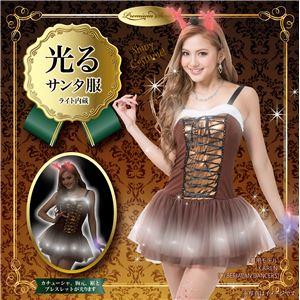 【クリスマスコスプレ 衣装】 光る!エレクトリックトナカイドレス