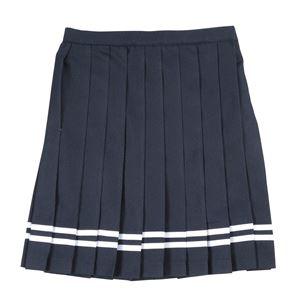 【コスプレ】 Teens Ever(ティーンズエバー) TE-17SSスカート(ネイビー/白ライン)L