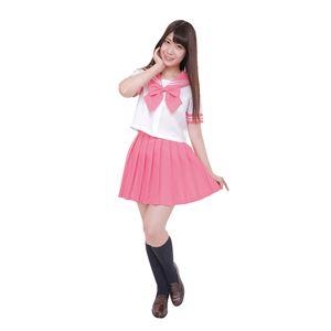 【コスプレ】カラーセーラー ピンクL