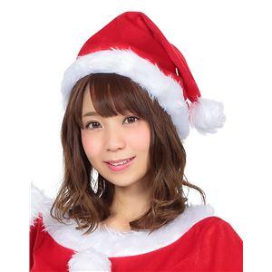【クリスマスコスプレ 衣装】 サンタ帽子 レッド