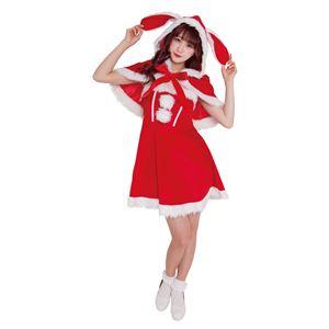【クリスマスコスプレ 衣装】 バニーケープサンタ