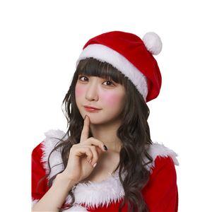 【クリスマスコスプレ 衣装】 サンタベレー帽