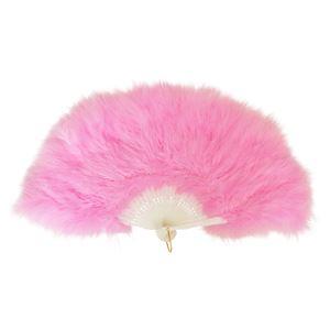ふわふわ羽扇子 ピンク