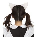 猫耳カチューシャ ふせ耳 白×ピンク