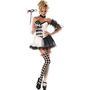 コスプレ衣装/コスチューム California Costumes LE BELLE HARLEQUIN / ADULT 【ドレス・スリーブ・サイハイソックス・マスク・チョーカー】