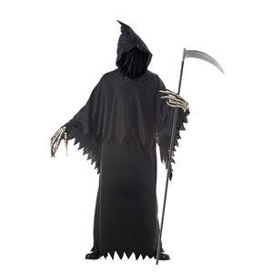 コスプレ衣装/コスチューム California Costumes GRIM REAPER DELUXE / ADULT 【ローブ・フード付きケープ(フェイスカバー付き)・手袋】