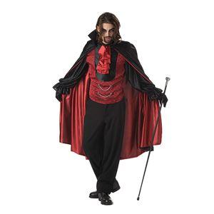 コスプレ衣装/コスチューム California Costumes COUNT BLOODTHIRST / ADULT 【袖付ベスト・襟スカーフ付きケープ】