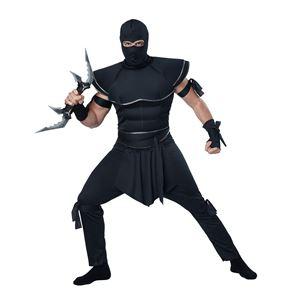 コスプレ衣装/コスチューム California Costumes Stealth Ninja 【シャツ・足紐付きズボン・フードマスク・ベルト・手袋・腕紐】