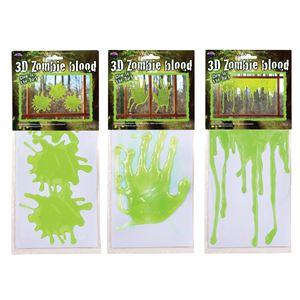コスプレ衣装/コスチューム Fun world Green Zombie Blood Drip Asst 窓ステッカー