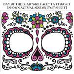 コスプレ衣装/コスチューム FORUM DAY OF DEAD TATTOO FACE-GLOW IN THE DARK MALE フェイスタトゥー