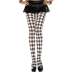 コスプレ衣装/コスチューム Music Legs 7094-BLACK/WHITE ストッキング