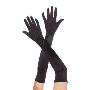 コスプレ衣装/コスチューム Music Legs 452-Black ロンググローブ