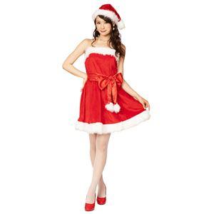 クリスマスコスプレ/衣装 XM パーティーサンタ レッド 〔イベント パーティー〕
