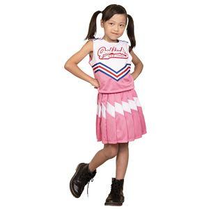 コスプレ衣装/コスチューム 【チアガール 120cmサイズ ピンク】 子供用 ハロウィン おままごと お遊戯会 『キッズジョブ』